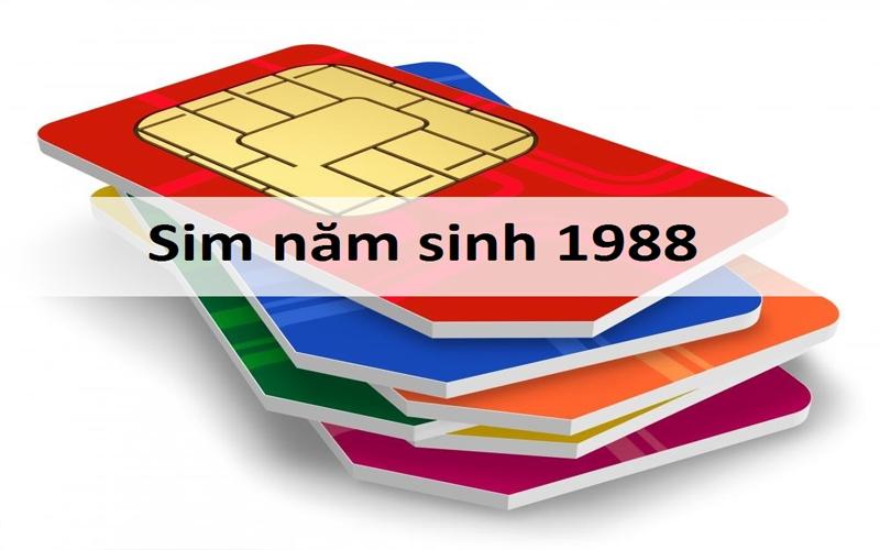Sim năm sinh 1988