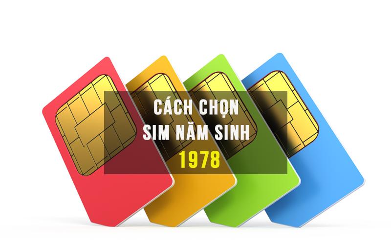Hướng dẫn lựa chọn Sim Năm Sinh 1978